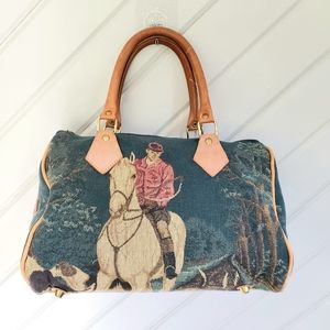 ¤ Vintage ¤ Equestrian Tapestry Purse